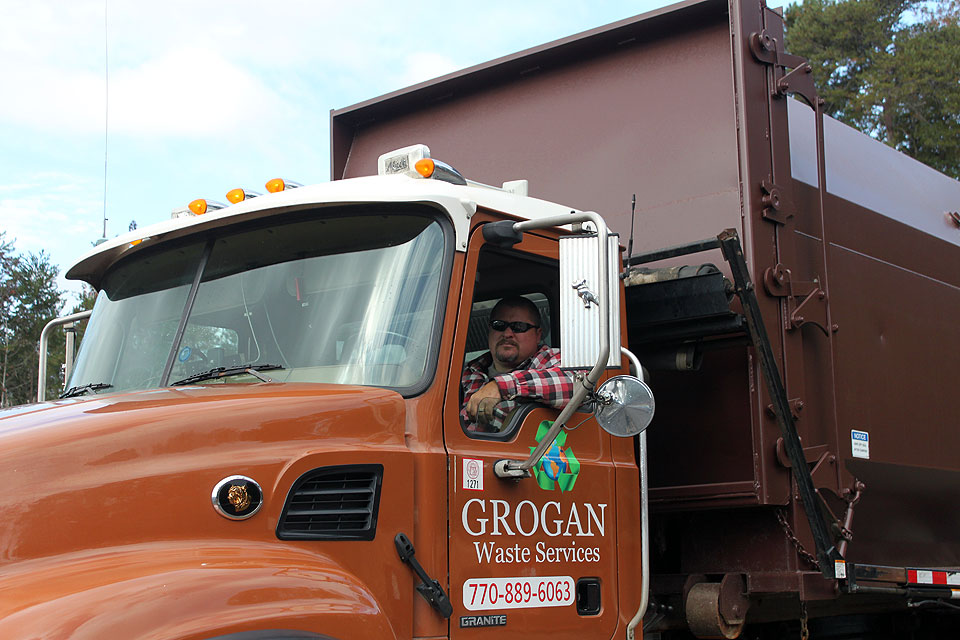 Grogan Waste Services has a fleet of waste disposal trucks and collection euipment