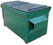 front-loading-container-two-cubic-yard-dumpster-grogan-waste-services-georgia