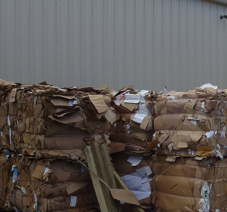 Grogan Waste Services recycles cardboard